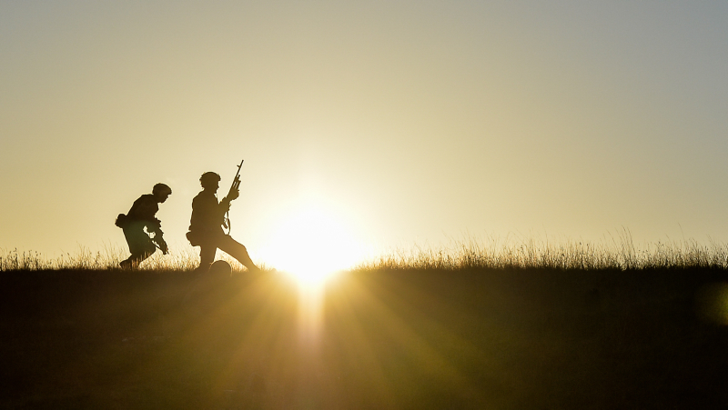 Paratroopers On Exercise